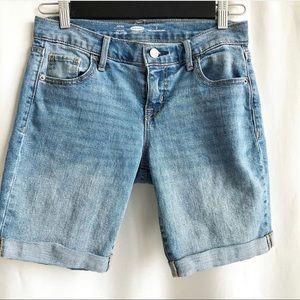 Old Navy midi jean shorts